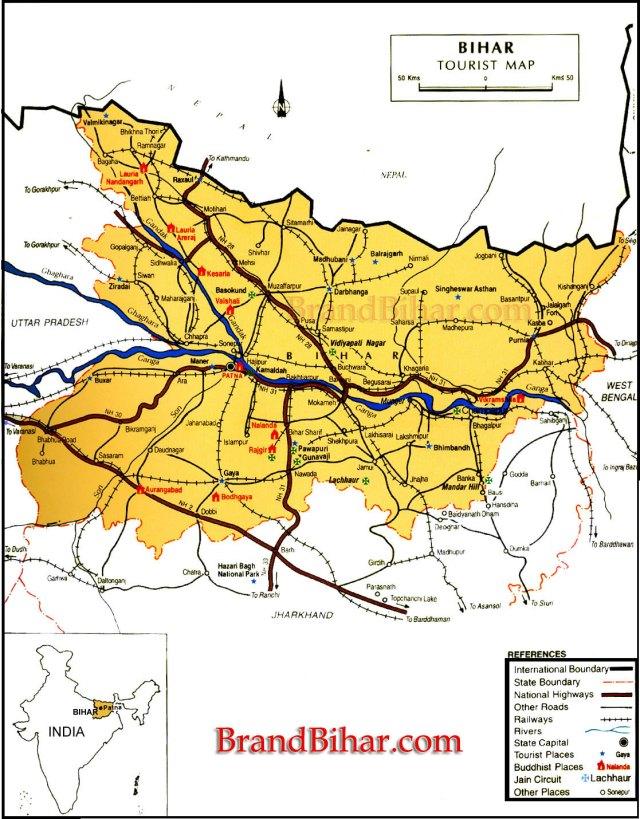 bihar_tourist_map