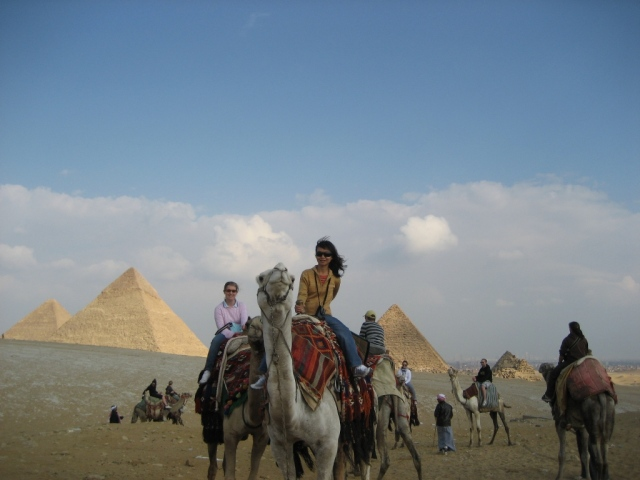 Day 2 - Riding a camel in Giza